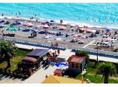 Гранд-отель «Абхазия», вид на море и пляж