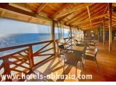 Пансионат «Мюссера» (им. Лакоба),  кафе на пляже